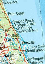 Map of New Smyrna Beach area