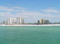 Clearwater Beach, Florida - miles of white, sandy beaches,