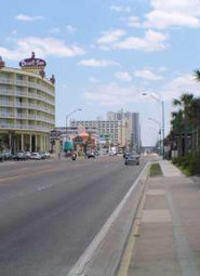 Route A1A in downtown Daytona Beach